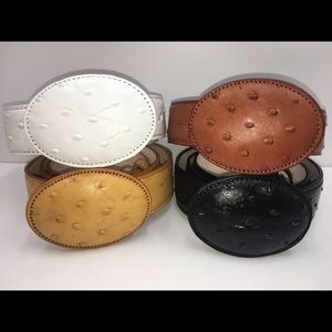 Ostrich belts 100% printed leather cintos Avestruz